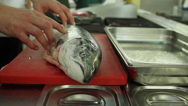 Ein Fisch, kurz vorm Grillen