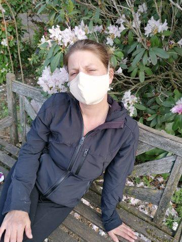Selbstgenähte Atemschutzmaske
